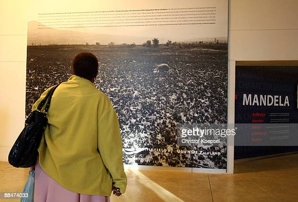 A visitor is seen during a visit of the Apartheid museum on June 13 2009 in Johannesburg South Africa