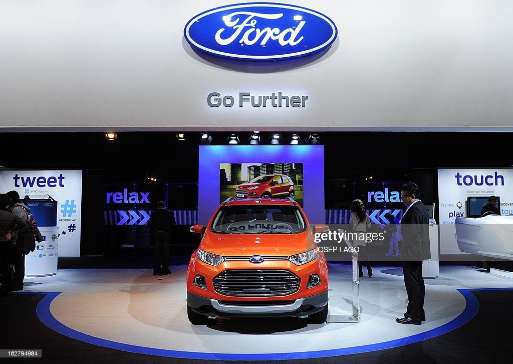 A visitor looks at a Ford B-Max car at the 2013 Mobile World Congress in Barcelona on February 27, 2013. The 2013 Mobile World Congress, the world's biggest mobile fair, is held from February 25 to 28 in Barcelona.