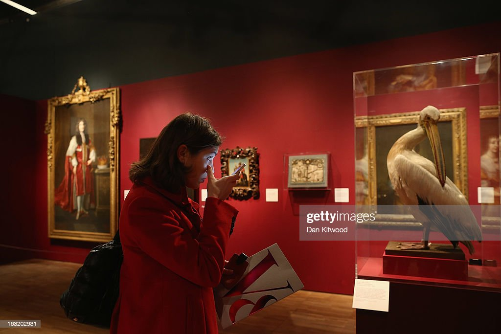 A visitor looks at a stuffed Pelican during a press preview of the V&A's new exhibit on March 6, 2013 in London, England. The exhibition, 'Treasures of the Royal Court: Tudors, Stuarts and the Russian Tsars' examines the development of cultural diplomacy and trade between Britain and Russia from it's origins in 1555. The runs at the V&A museum until July 14, 2013.