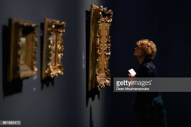 A visitor looks at Girl with Goats by Matthijs Maris during a special exhibition held at the Rijksmuseum Exhibition on October 13 2017 in Amsterdam...