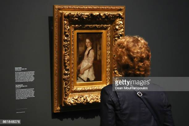 A visitor looks at 'The Young Cook' by Matthijs Maris during a special exhibition held at the Rijksmuseum Exhibition on October 13 2017 in Amsterdam...