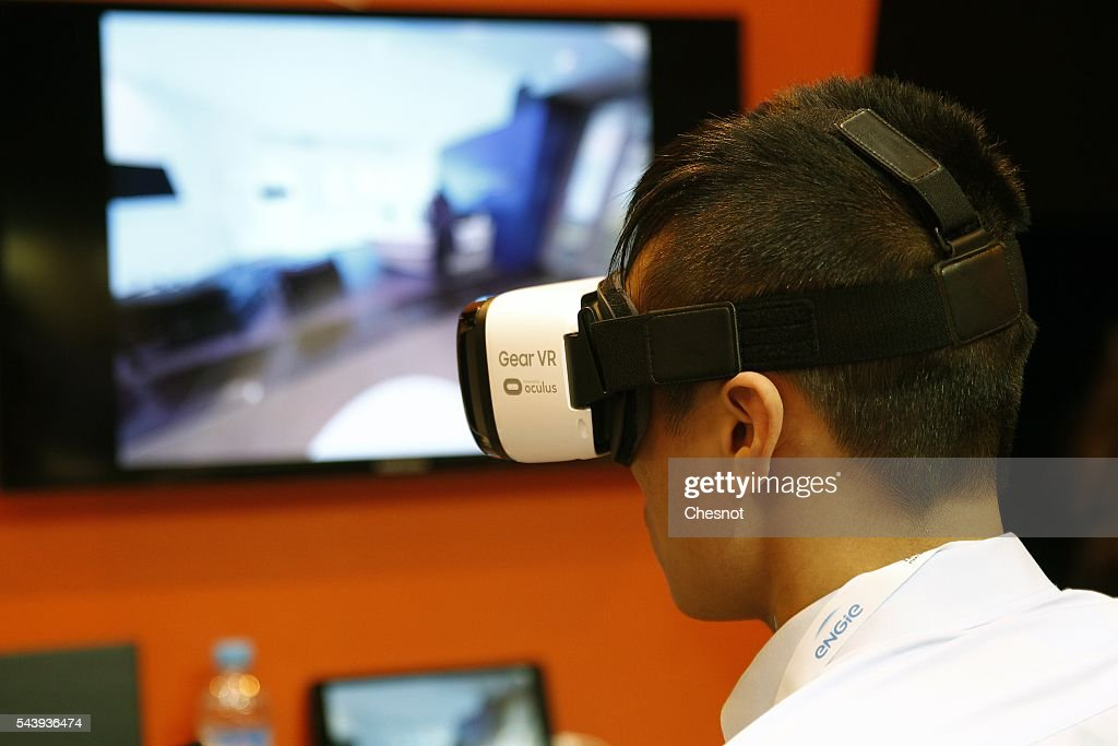 A visitor plays a game with the virtual reality head-mounted Samsung Gear VR powered by Oculus during the Viva Technology show on June 30, 2016 in Paris, France. Viva Technology Startup Connect, the new international event brings together 5,000 startups with top investors, companies to grow businesses and all players in the digital transformation who shape the future of the internet.