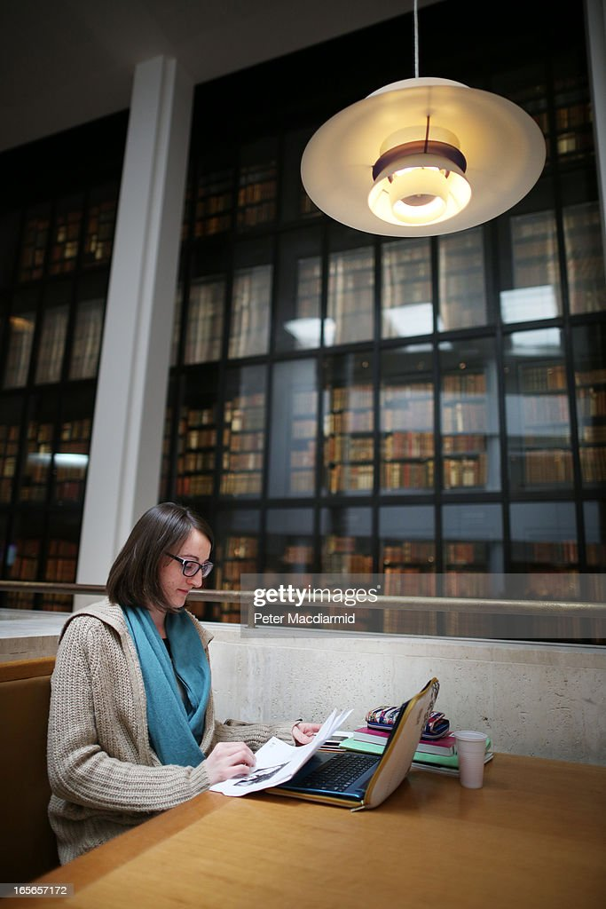 A visitor studies at The British Library on April 5, 2013 in London, England. The British Library and four other organisations have been given the right to archive the digital world from today. An estimated billion pages a year will be available for researchers to access through the new archive.