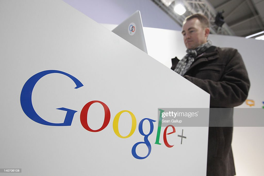 A visitor types on a laptop computer at the Google stand the day before the CeBIT 2012 technology trade fair officially opens to the public on March 5, 2012 in Hanover, Germany. CeBIT 2012, the world's largest information technology trade fair, will run from March 6-10, and advances in cloud computing are a major feature this year.