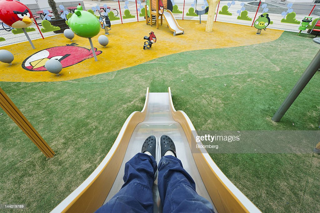 A visitor uses a slide in the children's play area at Angry Birds Land, an Angry Birds-themed activity center within the Sarkanniemi adventure park near Tampere, Finland, on Friday, May 4, 2012. Rovio Entertainment Oy reported FY sales of EU75.4m. Photographer: Juho Kuva/Bloomberg via Getty Images