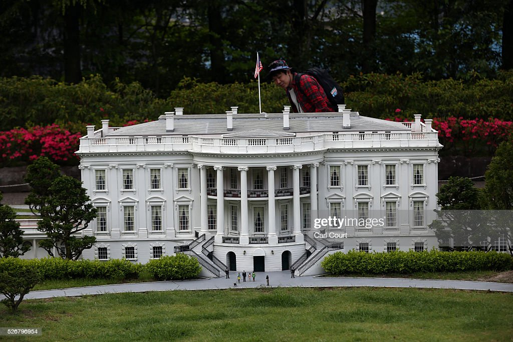 A visitor views a scale model of the White House at Tobu World Square theme park on May 01, 2016 in Nikko, Japan. Tobu World Square contains over a hundred 1:25 scale models of famous buildings, including World Heritage Sites, complete with 140,000 1:25 miniature people and receives visitors from around the world.