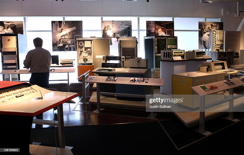 A visitor walks through a display of vintage computers at the Computer History Museum on January 19, 2011 in Mountain View, California. After a two year, $19 million renovation, the Computer History Museum re-opened its doors with a new 25,000 square foot exhibit called Revolution: The First 2000 Years of Computing. The exhibit features over 1,000 artifacts and 100 multimedia stations that explores every major aspect of the history of computing, from the abacus to the smart phone, and every step in between.