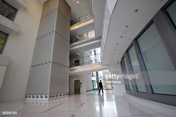 A visitor walks through the lobby of 100 West Putnam Avenue home to the former offices of Duff Capital Advisors LP in Greenwich Connecticut US on...