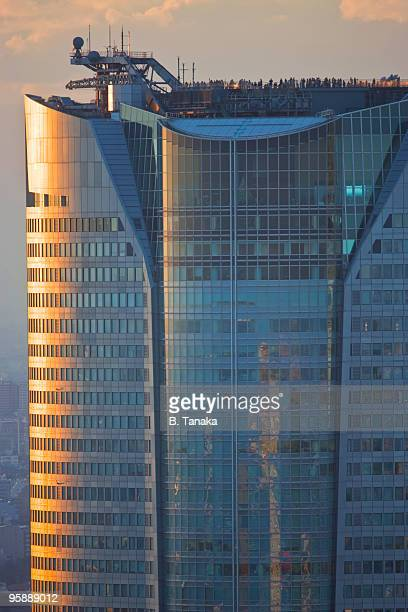 Visitors admire the view from  Mori Tower, Tokyo.