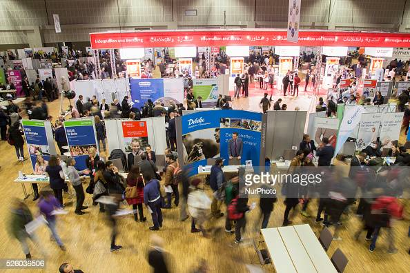 job fair for refugees in berlin pictures getty images. Black Bedroom Furniture Sets. Home Design Ideas