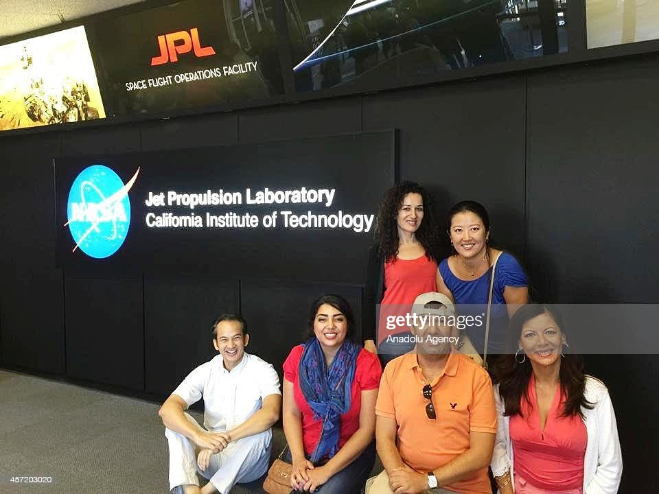 Visitors are seen during the open house of NASA's Jet Propulsion Laboratory, the event themed Welcome to Our Universe, take visitors on a ride through the wonders of space in Pasadena, California United States on October 14, 2014. Highlights include JPLs machine shop, where robotic spacecraft parts are built, a life-size model of Mars Science Laboratory.
