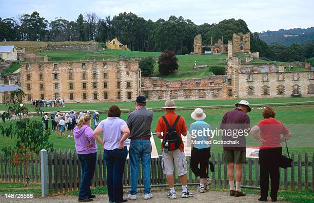 Visitors at Port Arthur Historic Site, convict Penitentiary.