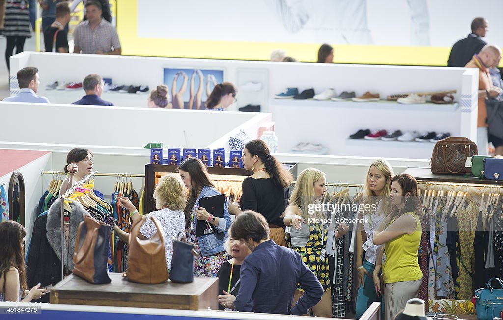 Visitors at the Bread and Butter trade show at the former Tempelhof airport on July 08, 2014 in Berlin, Germany.