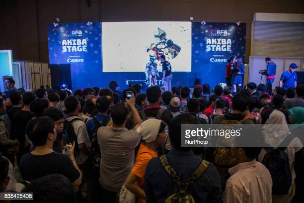 Visitors at the C3AFA event in Jakarta Indonesia on 19 August 2017 C3AFA is 6th Japanese popculture event The scale has expanded to the biggest...