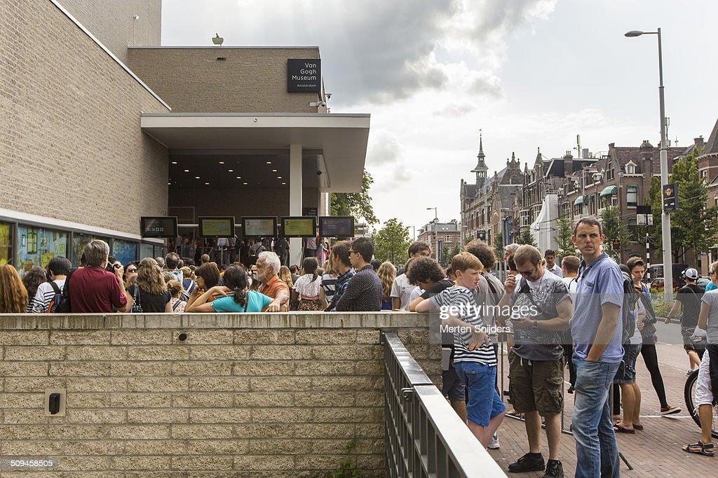 Visitors at the van Gogh Museum