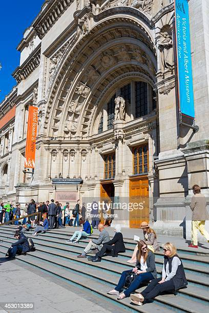 Visitors at the Victoria and Albert Museum South Kensington