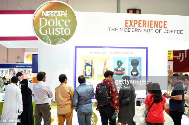 Visitors attend Gitex Shopper at World Trade Centre on April 1 2017 in Dubai United Arab Emirates