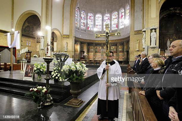 Visitors attend the memorial mass for the Dutch rightwing politician Pim Fortuyn at the Laurentiuskerk in Rotterdam on May 6 2012 Fortuyn was...