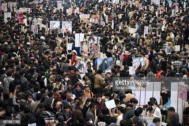 Visitors attend the Otaku Summit in Chiba suburb of Tokyo on March 28 2015 Japan opened what organisers are billing as the world's first 'Otaku'...