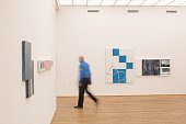 Visitors attend the press opening for the 'Two By Two' exhibition at Hamburger Bahnhof on March 5 2015 in Berlin Germany 'Two By Two' marks the first...