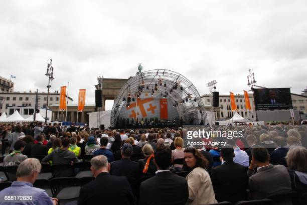 Visitors attends the Panel discussion Demokratie gestalten during the Event of the Church Days to celebrate 500 years protestant reform in Berlin...