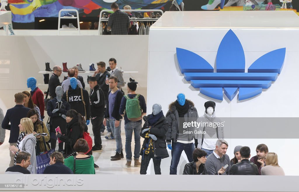 Visitors crowd the adidas Originals stand to see the adidas Originals Fall/Winter 2012 collection at the Bread and Butter 2012 fashion trade fair on January 18, 2012 in Berlin, Germany.