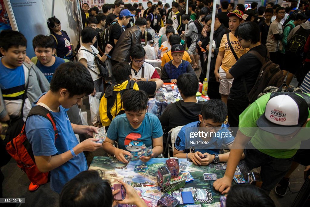Visitors during the C3AFA event in Jakarta, Indonesia on 19 August 2017. The scale has expanded to the biggest Japanese anime festival out of Japan in the world. Music artist, voice actors, cosplayers join this event to interact with fan through the live music, talkshow and so on.
