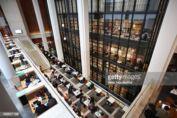 Visitors enjoy the cafe at The British Library on April 5 2013 in London England The British Library and four other organisations have been given the...