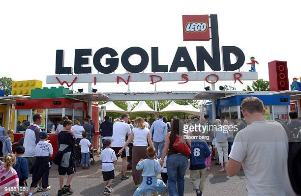 Visitors enter Legoland in Windsor Berkshire UK Sunday May 29 2005 Blackstone Group LP which is seeking to raise a record buyout fund agreed to buy...