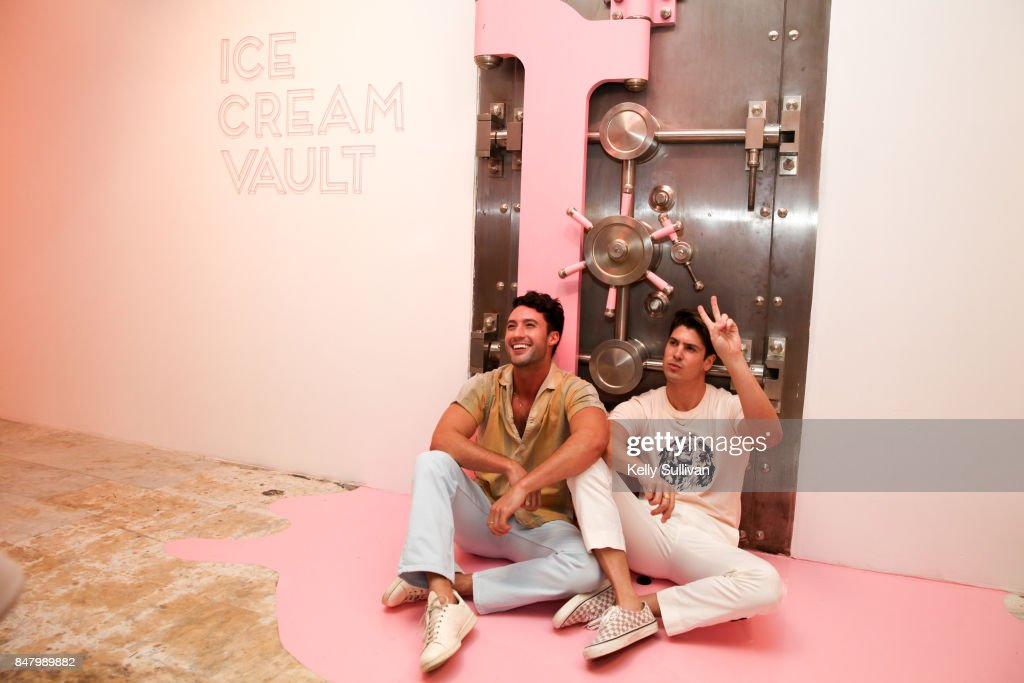 Visitors experience Museum of Ice Cream during the opening party on September 15, 2017 in San Francisco, California.