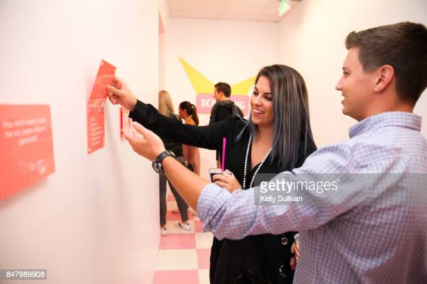 Visitors experience Museum of Ice Cream during the opening party on September 15 2017 in San Francisco California