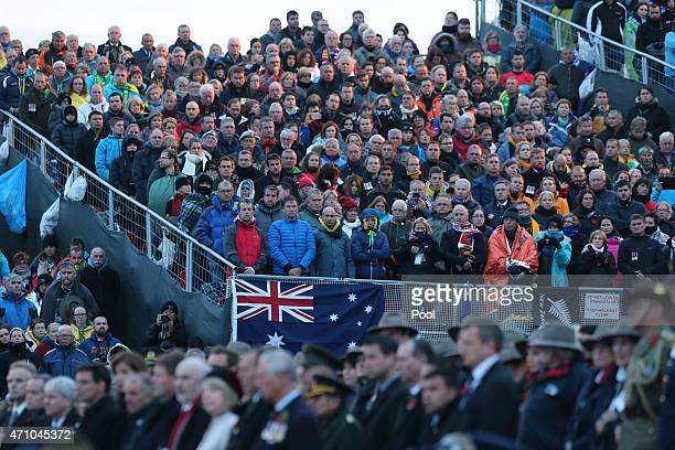 Visitors from Australia and New Zealand and around the world attend a ceremony marking the 100th anniversary of the Battle of Gallipoli at Anzac Cove...
