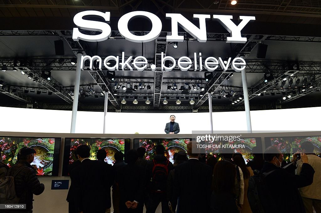 Visitors gather at the Sony booth during the CP+, (CP plus) photo imaging show in Yokohama on January 31, 2013. Around 96 companies are participating in the exhibition with some 70,000 visitors expected in the four-day-long event.