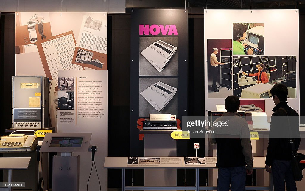 Visitors look at a display of vintage computers at the Computer History Museum on January 19, 2011 in Mountain View, California. After a two year, $19 million renovation, the Computer History Museum re-opened its doors with a new 25,000 square foot exhibit called Revolution: The First 2000 Years of Computing. The exhibit features over 1,000 artifacts and 100 multimedia stations that explores every major aspect of the history of computing, from the abacus to the smart phone, and every step in between.