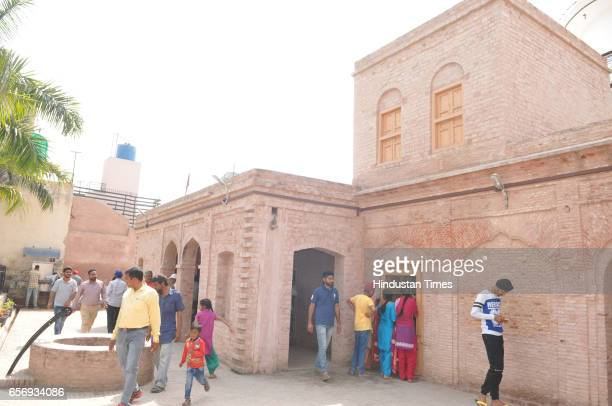 Visitors looking ancestral house of ShaheedAAzam Bhagat Singh on his martyr day at Khatkar Kalan on March 23 2017 in Jalandhar India The ShaheedeAzam...