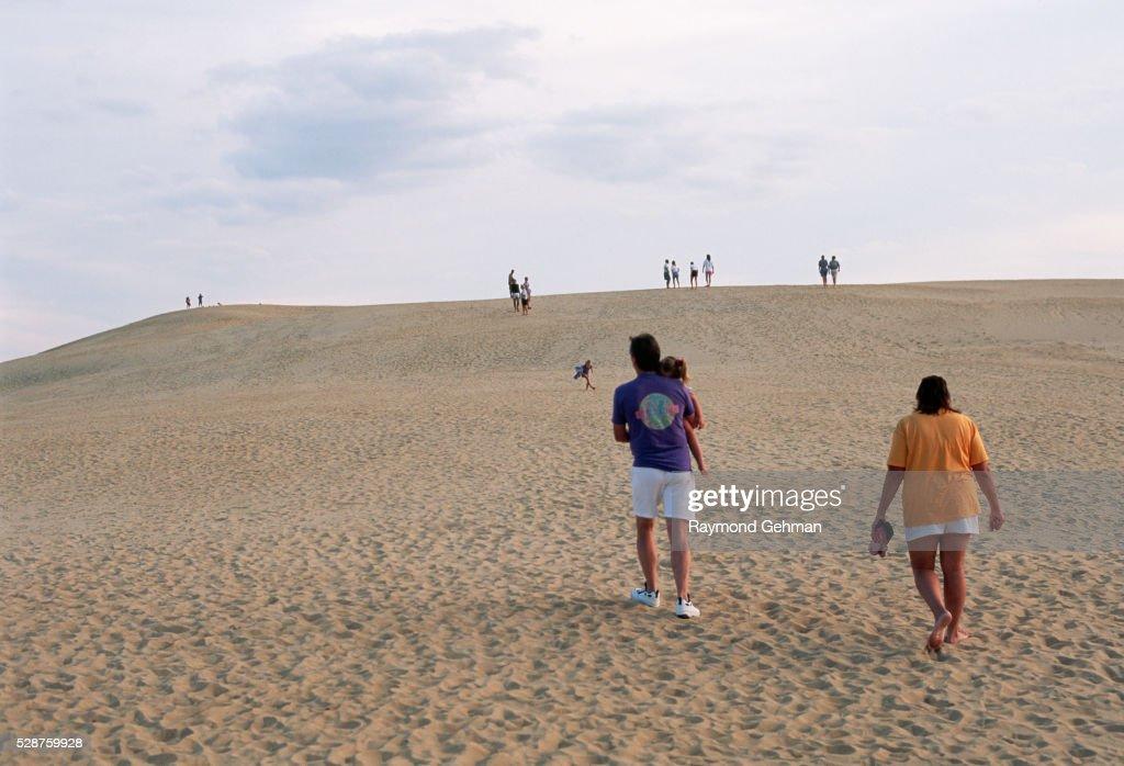 Visitors on Sand Dune