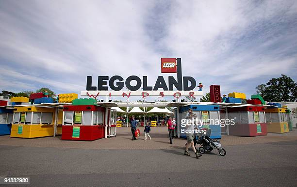 Visitors pass through the gates of Legoland in Windsor Berkshire UK Wednesday May 25 2005