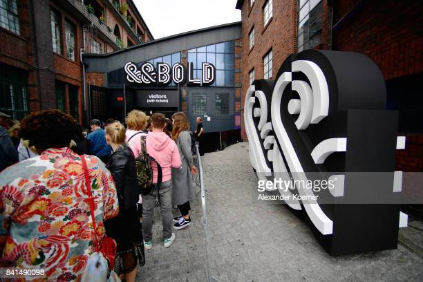 Visitors queueing before the opening moment of Bread Butter by Zalando at arena Berlin on September 1 2017 in Berlin Germany