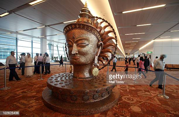 Visitors take a tour of the newly constructed Terminal 3 at Indira Gandhi International Airport in New Delhi July 3 2010 The terminal one of the...