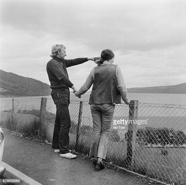 Visitors to Loch Ness in Scotland perhaps in search of the fabled Loch Ness Monster 7th July 1969