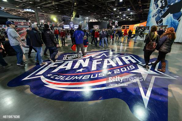 Visitors to the NHL Fan Fair enter the event on January 22 2015 in Columbus Ohio The NHL Fan Fair is part of the 2015 NHL AllStar Weekend in Columbus