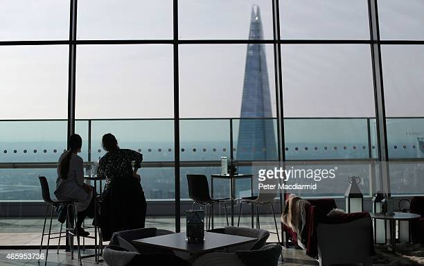 Visitors to the Sky Garden at 20 Fenchurch Street enjoy breakfast on March 12 2015 in London England Number 20 Fenchurch Street is London's newest...