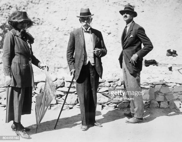 Visitors to the Tomb of Tutankhamun Valley of the Kings Egypt 1923 Left to right Lady Beauchamp Sir Edward Beauchamp and Mr BC Beauchamp The...