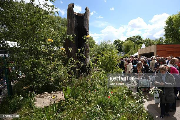 Visitors view the LaurentPerrier Chatsworth Garden which was awarded best show garden on the first public day of the Chelsea Flower Show on May 19...