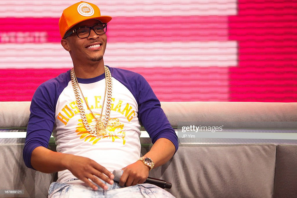 T.I. visits BET's 106 & Park at BET Studios on May 1, 2013 in New York City.