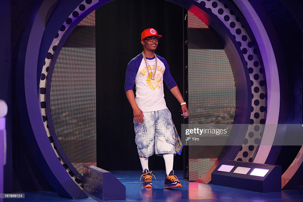 <a gi-track='captionPersonalityLinkClicked' href=/galleries/search?phrase=T.I.&family=editorial&specificpeople=221599 ng-click='$event.stopPropagation()'>T.I.</a> visits BET's 106 & Park at BET Studios on May 1, 2013 in New York City.