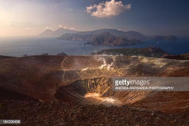 Vista panoramica dalla cima di Vulcano