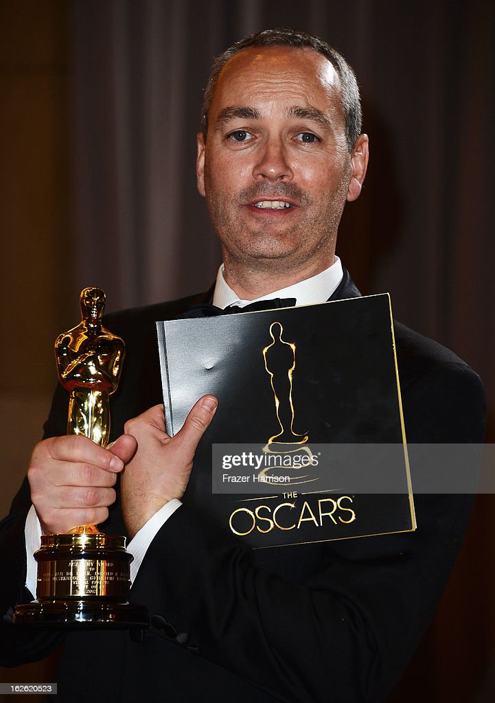 Visual effects artist Erik-Jan de Boer, winner of the Best Visual Effects award for 'Life of Pi' departs the Oscars at Hollywood & Highland Center on February 24, 2013 in Hollywood, California.