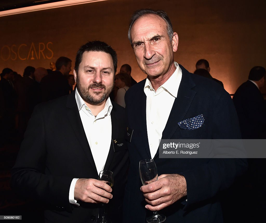 Visual effects artist Paul Norris (L) and production designer <a gi-track='captionPersonalityLinkClicked' href=/galleries/search?phrase=Arthur+Max&family=editorial&specificpeople=7010243 ng-click='$event.stopPropagation()'>Arthur Max</a> attend the 88th Annual Academy Awards nominee luncheon on February 8, 2016 in Beverly Hills, California.