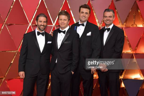 Visual effects artists Steve Emerson Oliver Jones Brian McLean and Brad Schiff attends the 89th Annual Academy Awards at Hollywood Highland Center on...
